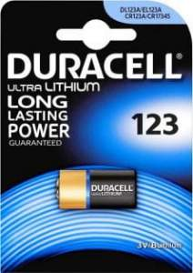 Duracell CR123A Ultra Lithium Long Lasting Power Bateria