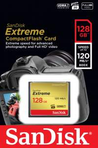 Sandisk Extreme CF 128GB  120/85MB/s