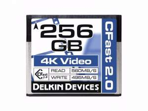 Delkin CFast Cinema 2.0 560 MB/s 256 GB
