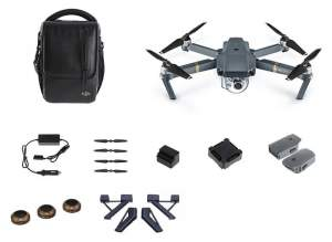 DJI MAVIC PRO Combo + PolarPro Landing Gear + 3Pack ND8/16/32