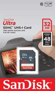 Sandisk Ultra SDHC 32GB 48 MB/s class 10