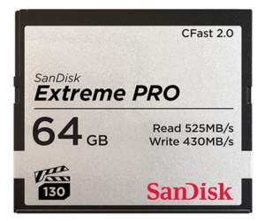 SanDisk EXTREME PRO CFAST 2.0 64 GB 525MB/s