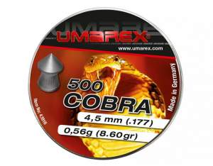 Umarex Śrut diabolo Cobra Pointed Ribbed 4,5 mm 500 szt.