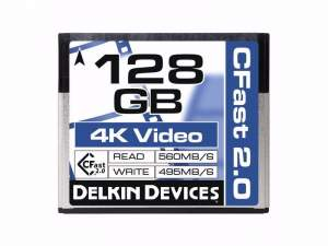 Delkin CFast Cinema 2.0 560 MB/s 128 GB